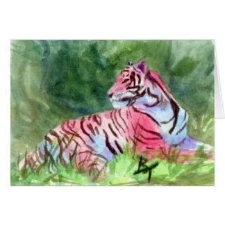 Rosa Tiger-leere Karte