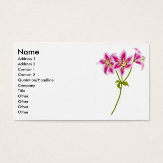 Rosa Tiger-Lilien-Visitenkarte Visitenkarten