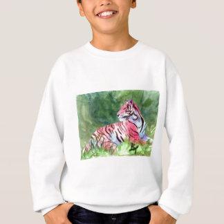 Rosa Tiger scherzt Sweatshirt
