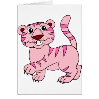 Rosa Tiger-wildes Tier dennoch superniedliches Karte