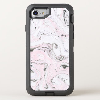 Rosa Tinten-Marmor-Muster OtterBox Defender iPhone 8/7 Hülle