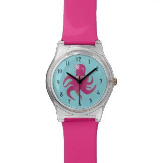 Rosa Tintenfisch Armbanduhr