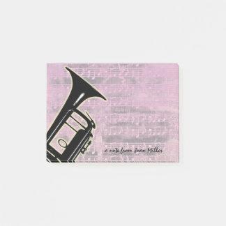 Rosa Ton-Trompete Post-it Klebezettel