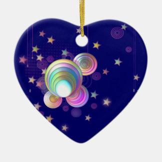 Rosa Träume Keramik Herz-Ornament