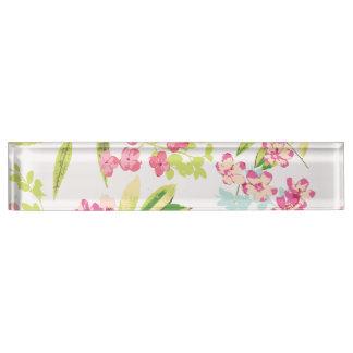 Rosa tropischer Schmetterlings-Girly Blumen-mit