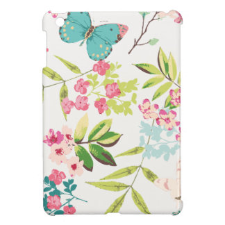 Rosa tropischer Schmetterlings-Girly Blumen-mit iPad Mini Schale