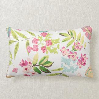 Rosa tropischer Schmetterlings-Girly Blumen-mit Kissen