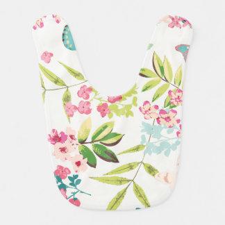 Rosa tropischer Schmetterlings-Girly Blumen-mit Lätzchen