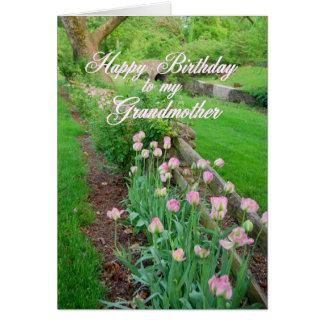 Rosa Tulpe-alles- Gute zum Geburtstaggroßmutter Karte