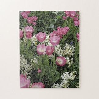 Rosa Tulpe-Puzzlespiel Puzzle