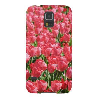 Rosa Tulpefeld Samsung Galaxy S5 Hüllen