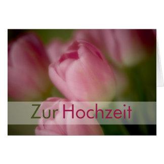 Rosa Tulpen • Glueckwunschkarte Hochzeit Grußkarte