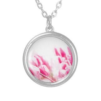 Rosa Tulpen Versilberte Kette