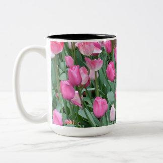 Rosa Tulpen Zweifarbige Tasse