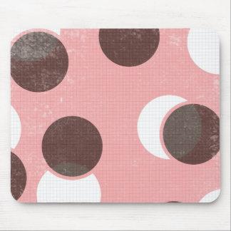 Rosa Tupfen fertigen besonders an Mauspad