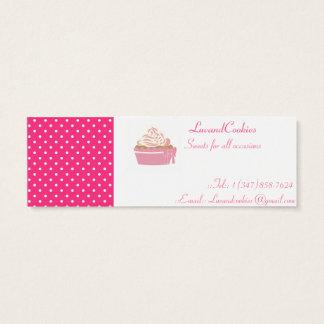 Rosa Tupfen-kleine Kuchen Mini Visitenkarte