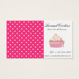 Rosa Tupfen-Kuchen-Bäckerei Visitenkarte