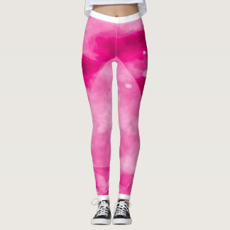 Rosa Turbo-Yoga-Fitness-Gamaschen Leggings