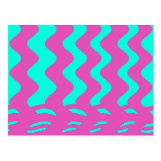 rosa Türkisstreifen Postkarte