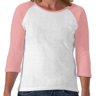 Rosa Turm Drei-Viertel Hülsen-bequemer T - Shirt