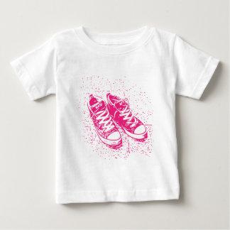 Rosa Turnschuhe Baby T-shirt