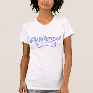 Rosa u. blauer Plott Jagdhund-T - Shirt