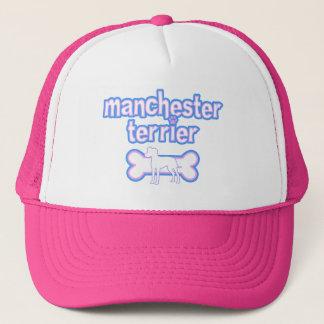 Rosa u. blaues Manchester Terrier Truckerkappe