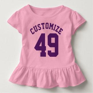 Rosa u. dunkler lila Sport-Jersey-Entwurf des Kleinkind T-shirt