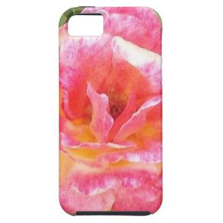 Rosa-u. Gelb-gepunktete Rose Tough iPhone 5 Hülle