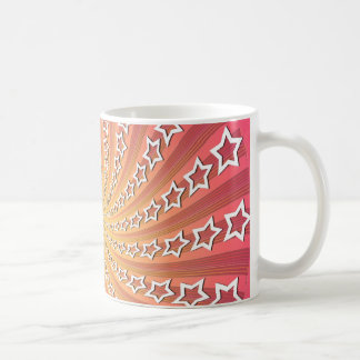 Rosa u. Goldstern-Spirale: Kaffeetasse