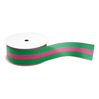 Rosa u. Grün Striped | jede mögliche Gewohnheit Ripsband