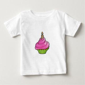 Rosa u. grüner Kuchen-Säuglings-T - Shirt