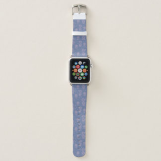 Rosa u. lila Cartoon-Kaktus-Muster Apple Watch Armband