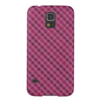 Rosa u. lila karierter kundenspezifischer Kasten Samsung S5 Hüllen
