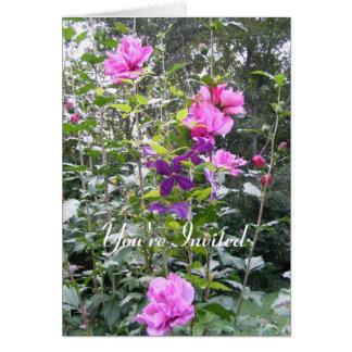 Rosa u. lila Strauch ~ Karte