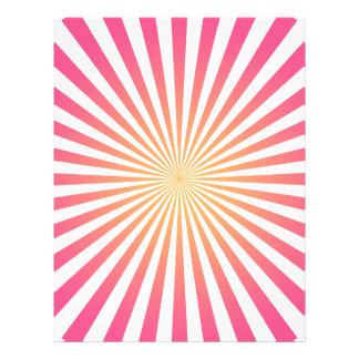 Rosa u. orange Radiallinien: Kundenspezifische Sch 21,6 X 27,9 Cm Flyer