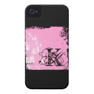 Rosa u. Schwarzes personalisierter Iphone Fall iPhone 4 Cover