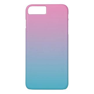 Rosa u. Türkis Ombre iPhone 8 Plus/7 Plus Hülle