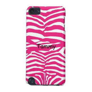 Rosa u. weiße Abdeckung Zebra-Druckipod-Touch-5g iPod Touch 5G Hülle