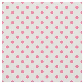 Rosa u. weiße Punkte - gekämmtes Baumwollgewebe Stoff