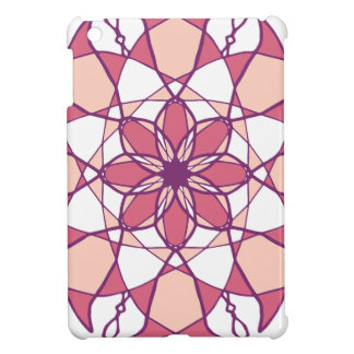 Rosa u. weißer Mandala-Entwurf iPad Mini Hülle