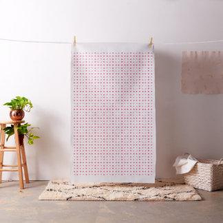 Rosa u. weißes Punkte-Muster-Baumwollgewebe Stoff