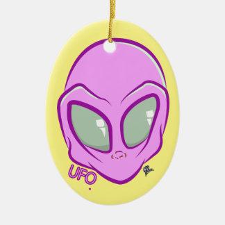 Rosa UFO-Marsalien-niedlicher Raum Keramik Ornament