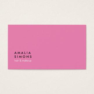 Rosa unbedeutende Visitenkarten