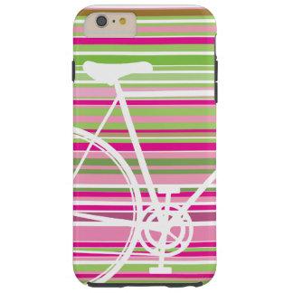 Rosa und abstrakte Fahrrad-Case-Mate starkes Tough iPhone 6 Plus Hülle