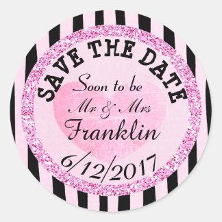 Rosa und B|lack SAVE THE DATE, die Aufkleber