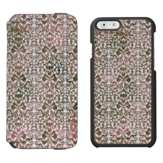 Rosa und Batik Browns Heathered Shibori Damast Incipio Watson™ iPhone 6 Geldbörsen Hülle