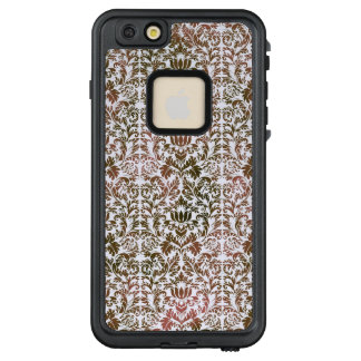 Rosa und Batik Browns Heathered Shibori Damast LifeProof FRÄ' iPhone 6/6s Plus Hülle