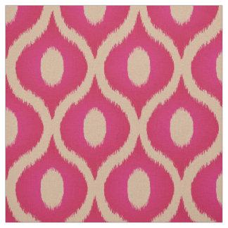 Rosa und beige ikat marokkanischer Entwurf Stoff