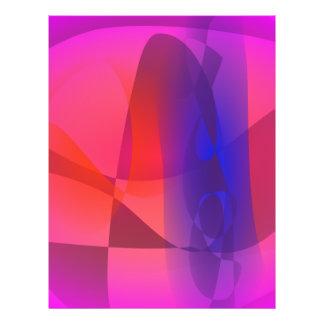 Rosa und blaue abstrakte Welt